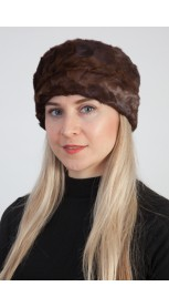 Natural brown mink fur hat – Created with mink fur remnants